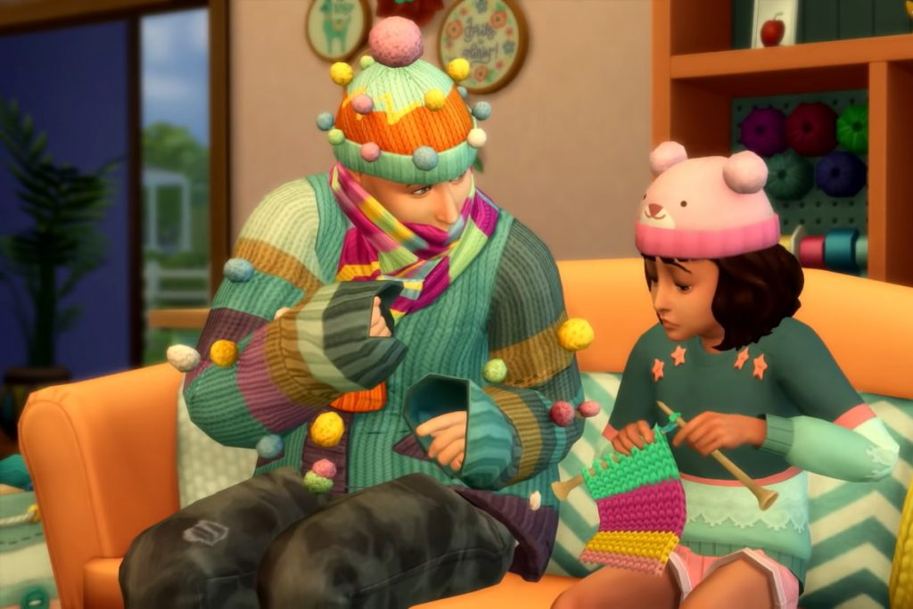 The Sims 4: Nifty Knitting มาเรียงร้อยทอไหมพรม ไปกับการถักนิตติ้งกันเถอะ คีบตุ๊กตา เกมตู้ เกมอาร์เคด ตู้คีบตุ๊กตา โมเดล ตู้คีบ ReviewGame TheSims4 NiftyKnitting